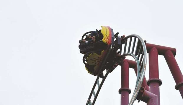 'Land of the Dragons' ride at Chessington World of Adventures Resort in Chessington, Greater London,