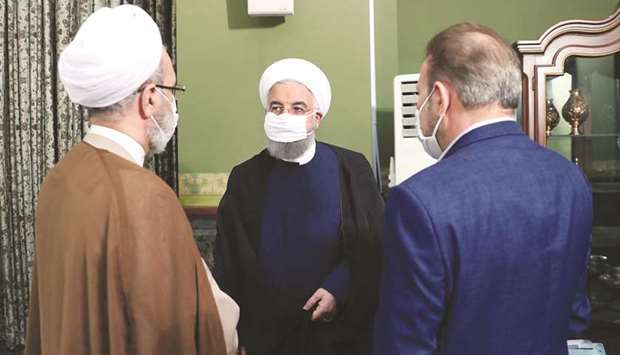 A handout picture made available by the Iranian presidency yesterday shows President Hassan Rouhani