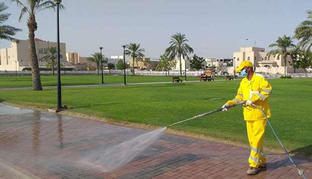 Intensive efforts to clean streets and walking paths