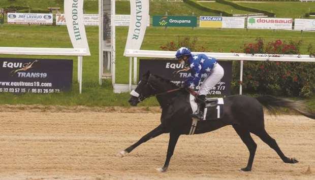 Laurie Foulard rides Sayaad to Prix De Bournazel victory in Pompadour, France, on Sunday. (Maxime Du