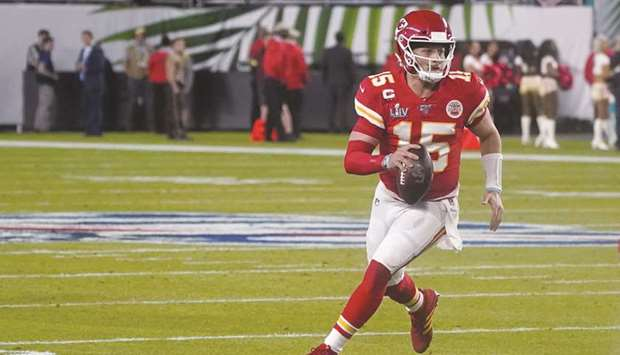 Patrick Mahomes, who was drafted 10th overall by Kansas City in 2017, led the Chiefs to Super Bowl v
