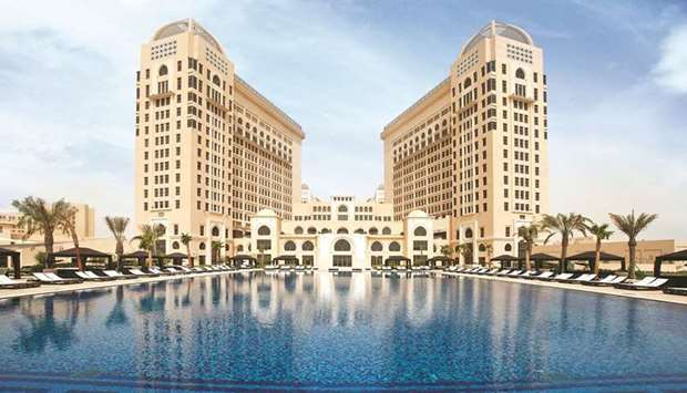 A view of The St Regis Doha.