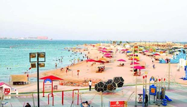 Katara beach will continue to receive visitors from 3pm until 10pm and swimming will be allowed unti
