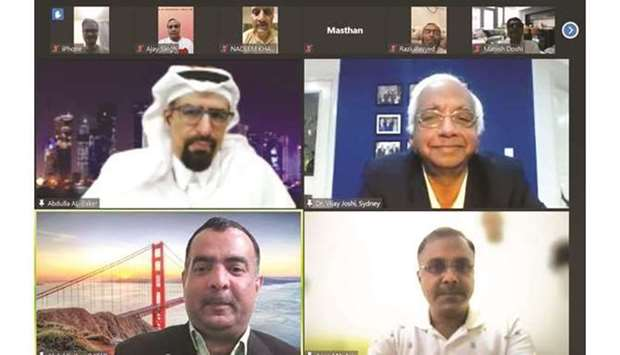 IEI Qatar Chapter officials and resource speakers during the webinar.