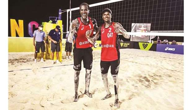 Qatar's beach volleyball stars Cherif Younousse and Tijan Ahmed
