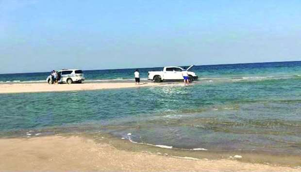 The rescue operations were mostly freeing vehicles stuck in the sands, or sunk on the beach due to t