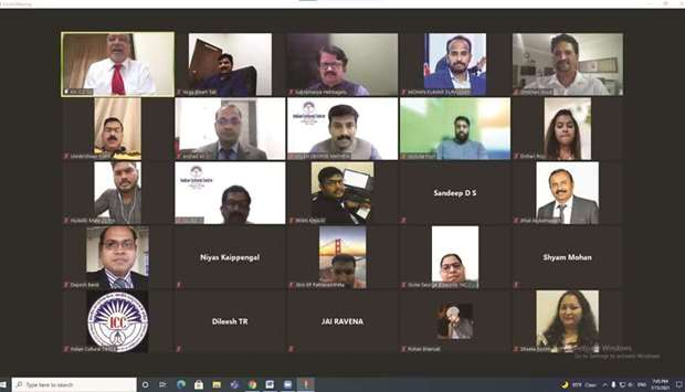 The Indian Cultural Centre (ICC) hosted an online meeting in connection with the formation of the IC