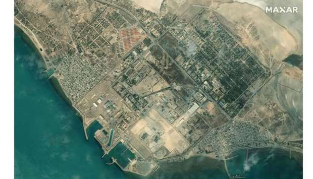 An overview of Iran's Bushehr Nuclear Power Plant, southeast of the city of Bushehr. AFP PHOTO / Sat