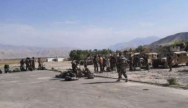 Afghan security forces in Faizabad the capital of Badakhshan province