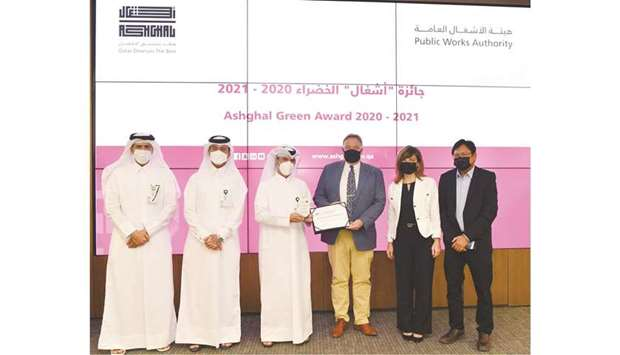 The Public Works Authority (Ashghal) Tuesday announced Green Award winners of 2020-2021.