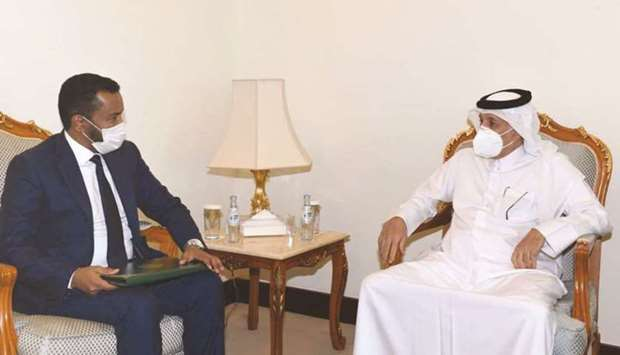 HE the Minister of State for Foreign Affairs Sultan bin Saad al-Muraikhi met Charge d'Affairs at the