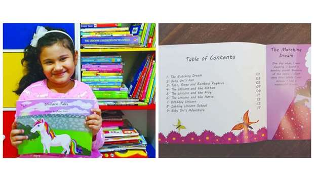 Unicorn Tales is a collection of nine stories written by seven-year-old Zoya Nabil
