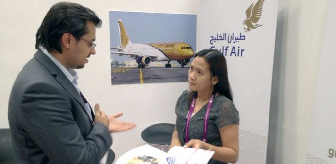 Gulf Air at the congress.