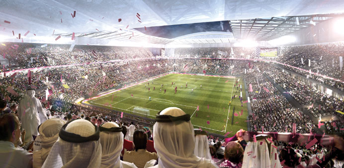 Artist's impression of Al Rayyan Stadium.