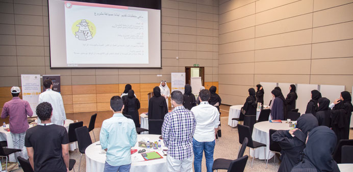 Interaction between participants and trainers during the programme.