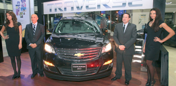 The 2013 Chevrolet Traverse unveiled.