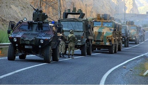Eight other soldiers were wounded after a homemade bomb exploded while a military convoy was passing