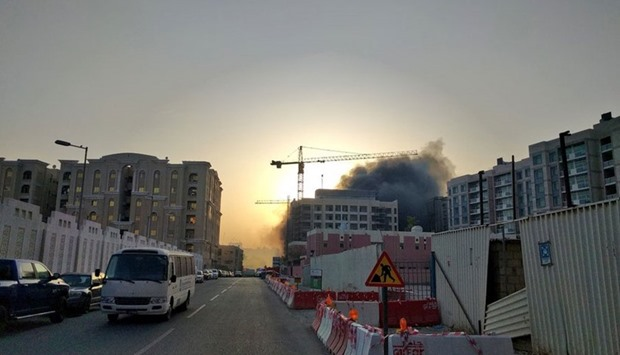 Fire at under-construction building at Bin Mahmoud.