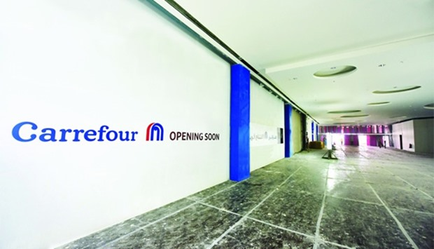 The upcoming Carrefour store at Mall of Qatar