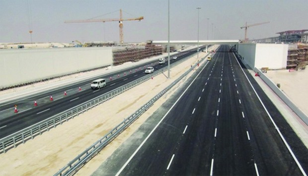 A view of the newly-opened stretch of the Dukhan Highway