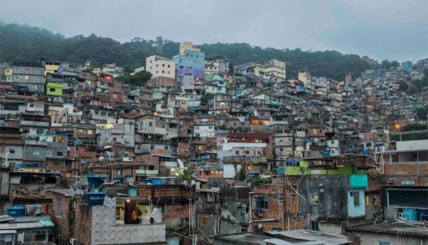 A view of the favelas (slums) in Rio