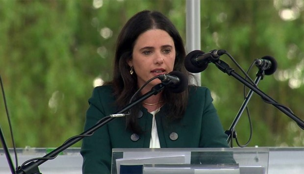 Israel Justice Minister Ayelet Shaked