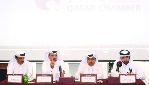Officials from the Ministry of Administrative Development, Labour and Social Affairs, and Qatar Cham