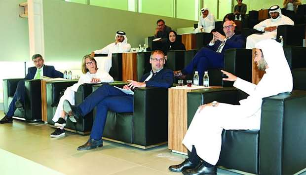 Members of Qatar Foundation's leadership team meet with a press delegation from France and Belgium