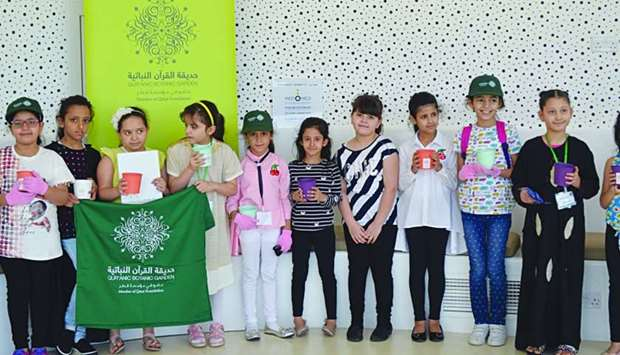 Young students participate in QBG's 2017 Ghars Campaign summer programme of activities.