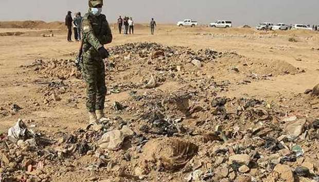 Human remains believed to belong to troops
