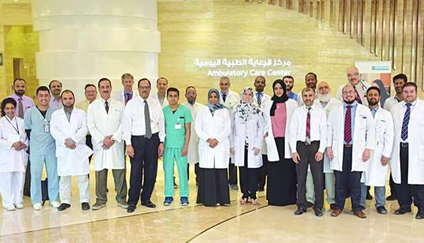 Dr Saad al-Kaabi and the team at the Ambulatory Care Centre