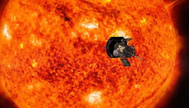 An artist's conception of NASA's Parker Solar Probe