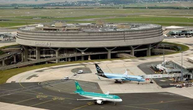A general view of Terminal 1 at Charles de Gaulle Airport near Paris