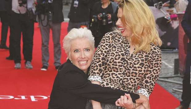 British actress Emma Thompson (left)