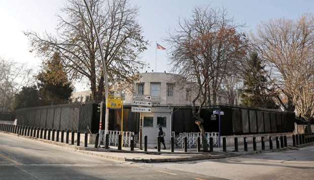 General view of the US Embassy in Ankara