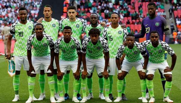 Nigeria team group before an International Friendly match between England and Nigeria at Wembley Sta