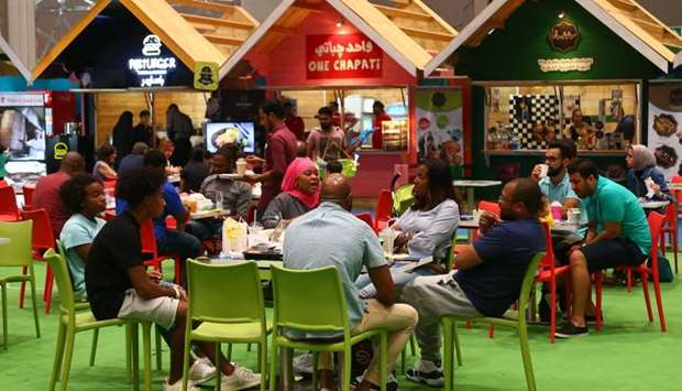 The food court featured many different restos serving different dishes and cuisine.