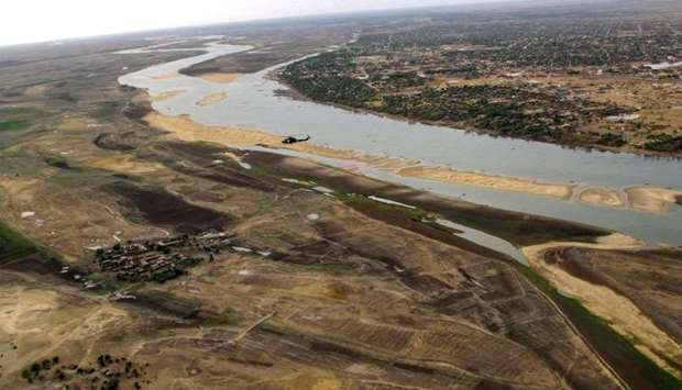 aerial view of the Niger river