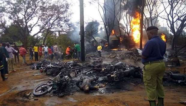Fuel tanker explodes killing 57 in Tanzania accident