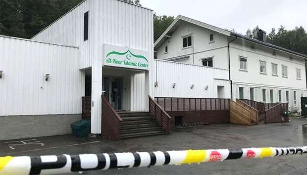A view of the al-Noor Islamic Centre mosque in Sandvika, Norway