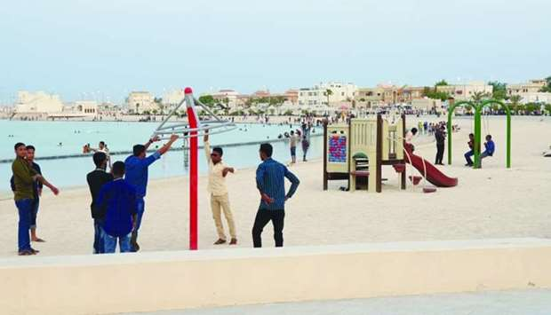 The beaches were maintained properly to cater to the large number of visitors during the Eid holiday