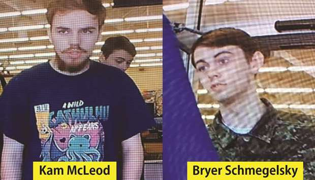 An RCMP handout photo of Kam McLeod and Bryer Schmegelsky from Port Alberni, British Columbia.