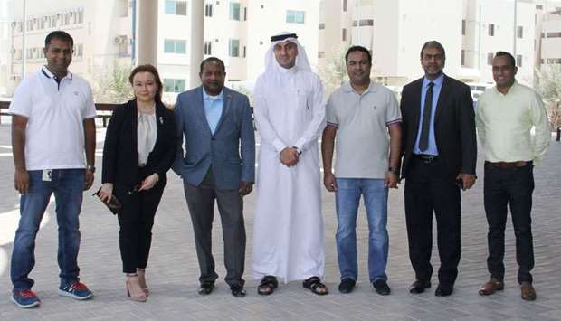 Athulathmudali with Prang and Daoud among others at the Logistics Village Qatar (LVQ)