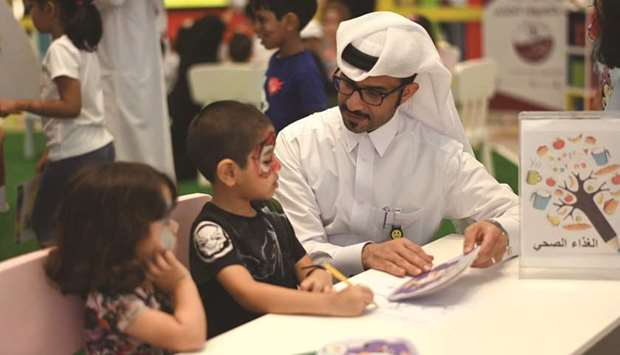 Students attending the camp at Mall of Qatar as part of the Back to School campaign.