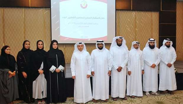 HE the Minister of Education and Higher Education Dr Mohamed Abdul Wahed Ali al-Hammadi with others