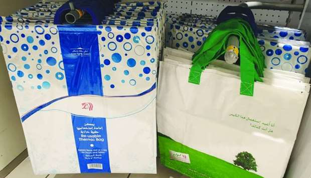 Lulu Hypermarket recently introduced paper and reusable bags.