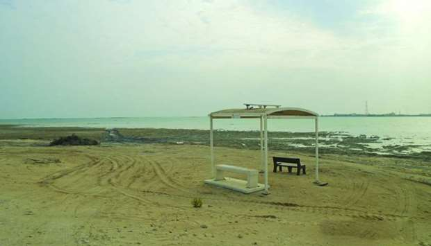 Al Shamal Corniche after cleanliness drive