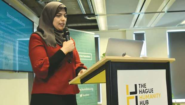 Ghadeer Abuoda recently completed her fellowship at the Centre for Humanitarian Data in The Hague, t