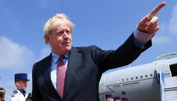 Britain's Prime Minister Boris Johnson arrives in Biarritz for the G7 summit, France