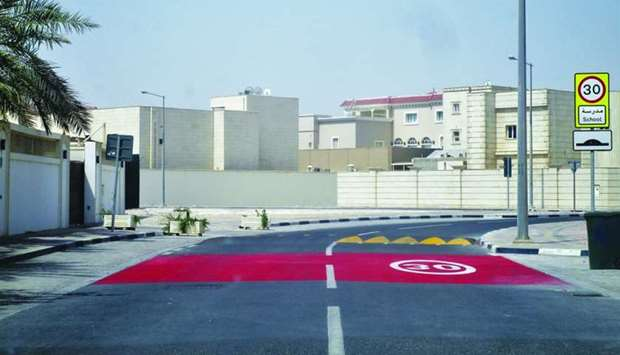 A school zone after the development work carried out by Ashghal